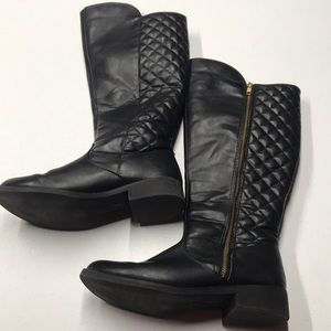 DEX FLEX Womens 9 Black Quilted Full Zip Boots